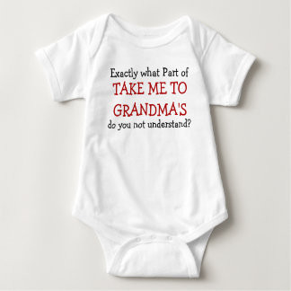Take Me To Grandma's Baby Infant Bodysuit