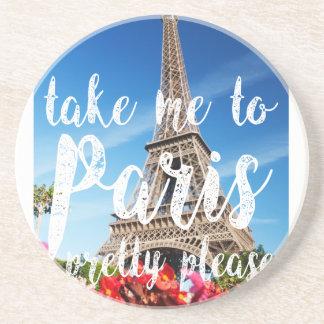 take me to Paris Drink Coasters