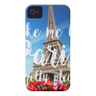 take me to Paris iPhone 4 Case-Mate Case