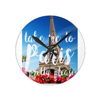 take me to Paris Wallclock