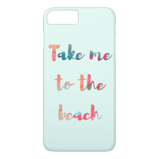 Take Me to the Beach Watercolor Phone Case