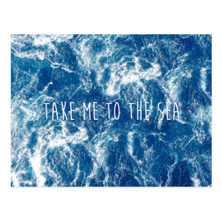 Take me to the sea postcard
