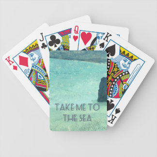 Take Me To The Sea quote Bicycle Playing Cards
