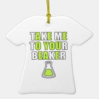 Take Me to Your Beaker Christmas Ornament