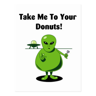 Take Me To Your Donuts Postcard