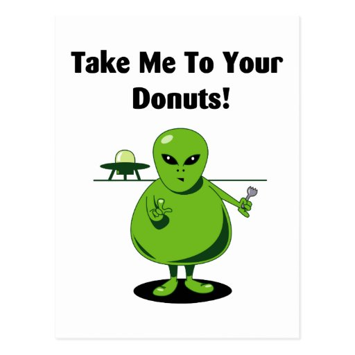 Take Me To Your Donuts Post Cards