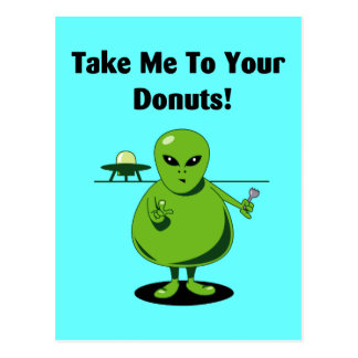Take Me To Your Doughnuts Postcards