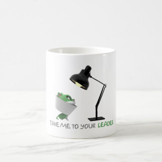 'Take Me To Your LEADER' Funny Quote Basic White Mug