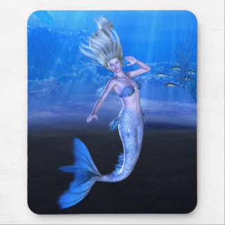 Take My Hand and Follow Your Heart Mermaid Art Mouse Pad