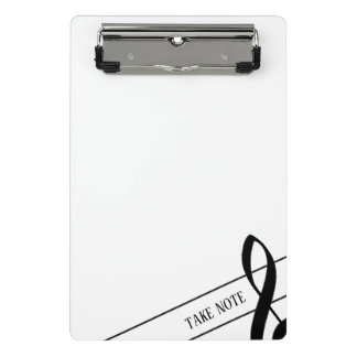 Take Note Treble Clef Mini Clipboard