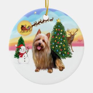 Take Off  - Australian Terrier Round Ceramic Decoration