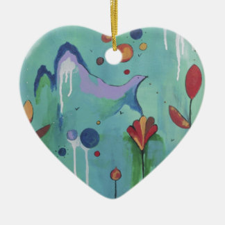 Take-off Ceramic Heart Decoration