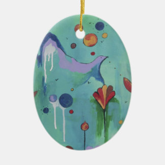 Take-off Ceramic Oval Decoration