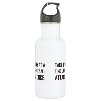 Take One Day At A Time Unless All Attack At Once 532 Ml Water Bottle