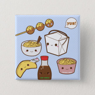 Take Out 15 Cm Square Badge