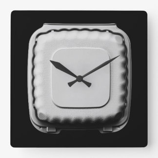 Take Out Container Still Life - Fun Cool Unique Square Wall Clock