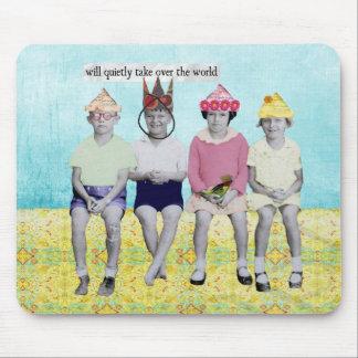 Take Over the World Retro Humourous Mousepad