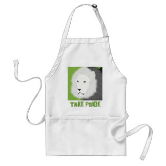 Take Pride Apron -  Lion in Green