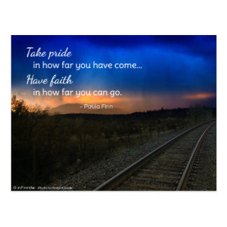 Take pride in how far you have come... postcard