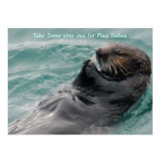 Take some time out for Play. Postcard