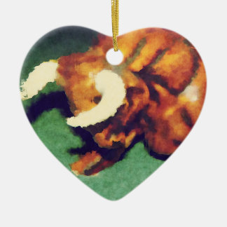 Take The Bull by the Horns Ceramic Heart Decoration
