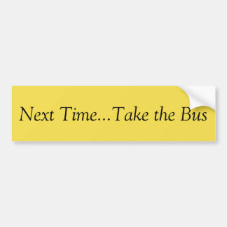 Take The Bus Bumper Sticker