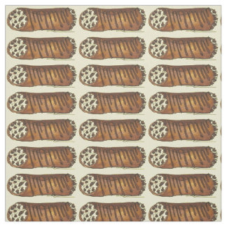 Take the Cannoli Chocolate Italian Pastry Fabric