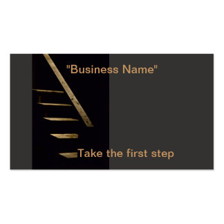 Take the first step business card templates