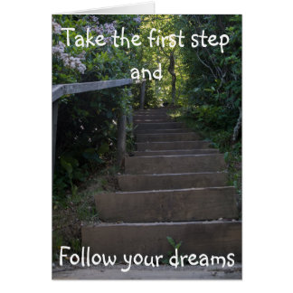 Take the first step (stairs) greeting card
