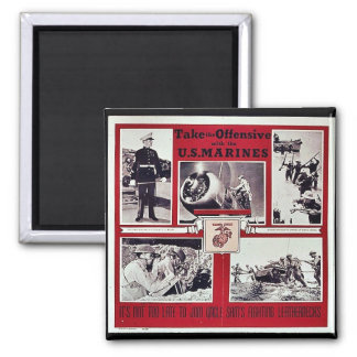 Take The Offensive With The U S Marines Refrigerator Magnet