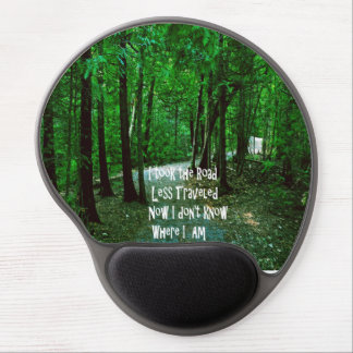 Take the road less traveled gel mouse pad