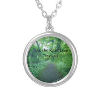 Take the Road Less Traveled Silver Plated Necklace