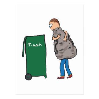 Take The Rubbish Out Postcard