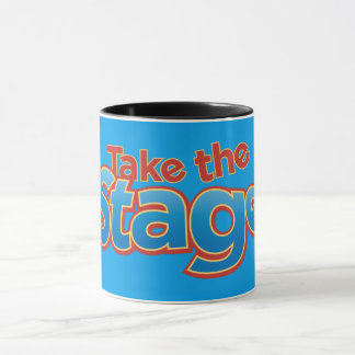 Take the Stage Black Ringer Mug
