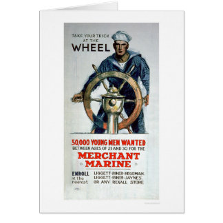 Take the Wheel - Merchant Marine (US02058) Greeting Card
