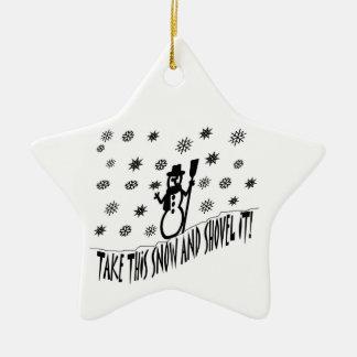 Take This Snow Ornament