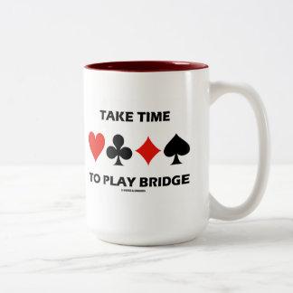 Take Time To Play Bridge (Four Card Suits) Mugs