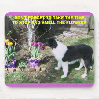 TAKE TIME TO SMELL THE FLOWERS MOUSE MAT
