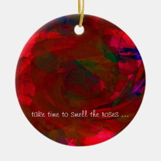 Take Time to Smell the Roses Christmas Tree Ornaments