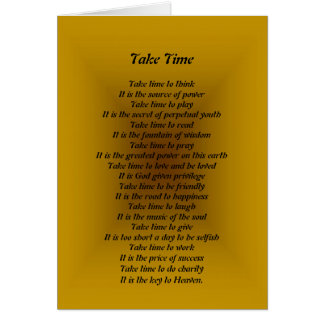 Take Time to Think Greeting Card