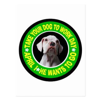 TAKE YOUR DOG TO WORK DAY--Bulldog Postcard
