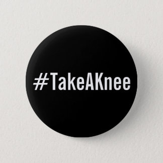 #TakeAKnee, bold white text on black button