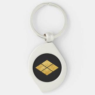Takeda kamon Japanese samurai clan faux gold Key Ring