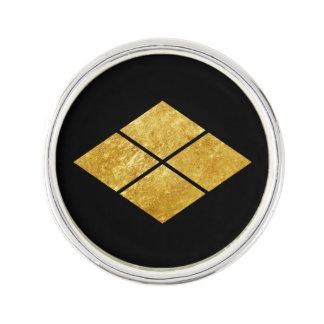 Takeda kamon Japanese samurai clan faux gold Lapel Pin