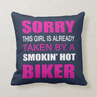 Taken By A Biker Cushion