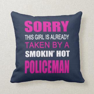 Taken By A Policeman Cushion
