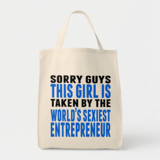 Taken By The World's Sexiest Entrepreneur Grocery Tote Bag