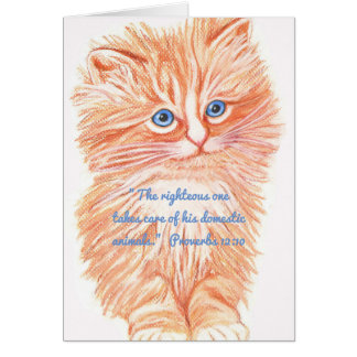 Takes Care of Domestic Animals~Scripture Card