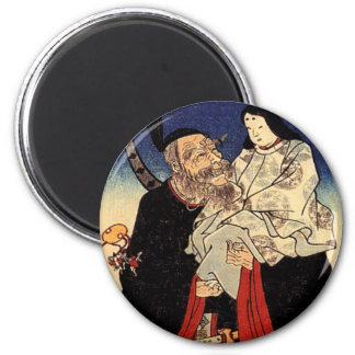 Takeuchi and the infant emperor 6 cm round magnet
