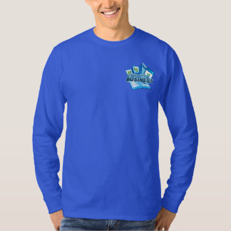 Taking care of Business Men's blue long sleeve T-Shirt